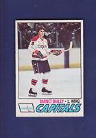 Garnet Bailey 1977-78 O-PEE-CHEE OPC Hockey #196 (EXMT+) Washington Capitals