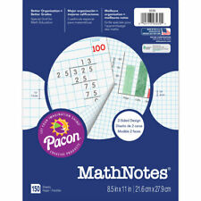 Pacon Corporation Mathnotes White 150 Ct 8 5 X 11 In 3230