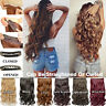 New Clip In Hair Extensions Sexy Long Curly Wavy Extensions Piece Heat Resistant