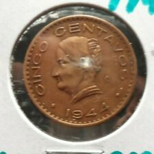 CIRCULATED 1944 5 CENTAVOS MEXICAN COIN (110519)1.....FREE DOMESTIC SHIPPING!!!!