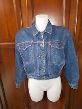 CARRERA RECOGNISED WORLD WIDE RARE VINTAGE JEANS JACKET GIACCA DONNA Tg L