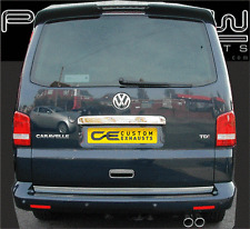 VW TRANSPORTER T5 STAINLESS STEEL CUSTOM BUILT EXHAUST SYSTEM TWIN TAIL PIPES