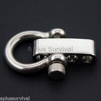 5mm Stainless Steel Bow Shackle & Adjuster Bar - Paracord Bracelet Gun Sling