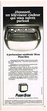 Publicité Advertising 1975 Téleviseur Portacouleur Sensitronic Pizon Bros