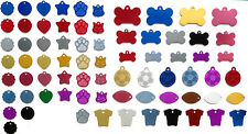 Pet ID Tag, ALUMINIUM DOG or CAT TAGS, VARIOUS SHAPES & SIZES, ENGRAVED Options