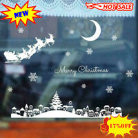 Removable Merry Christmas Art Decal Window Wall Stickers Decor Shop Home