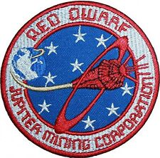 Red Dwarf Jupiter Mining Corporation Logo Embroidered Iron-on patch 4""