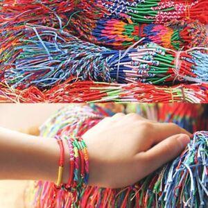 5 x Handmade Brazilian Friendship Colourful Bracelets