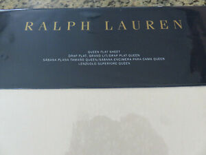 RALPH LAUREN Queen Flat and/or Fitted Sheet Cassie Tallie Floral Jacquard Cream