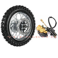 "1.85*12"" 80/100-12 3.00-12 Rear Wheel Rim Tire & Brake Caliper for CRF50 XR50 US"