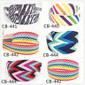 2-10Yard1'' 25MM Rainbow Stripe Printed Grosgrain Ribbon Hair Bow Sewing Ribbon