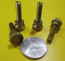 "Flared Shoulder Brass Thumb Screw, 7/16"" Dia,  10-32 x 3/4"" Length, 20 Pcs"