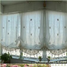 Pastoral Style Adjustable Balloon Curtain Living Room Curtains