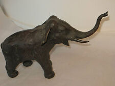 Large Bronze Elephant Trumpeting Great Nature Present Decorative Item - Lovely