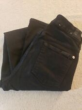 Seven For All Mankind The High waist Skinny Black Jeans Pants Womens 26