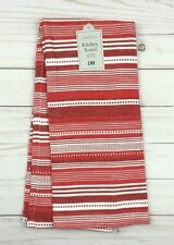 DII Kitchen Dish Towel Design Imports Hand Tea Red White Stripe