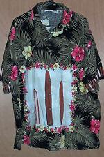 Mens Size XXL KoKo Island Real Hawaiian Surfboard Shirt Black Flower 2XL Hawaii