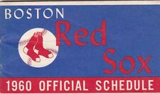 Boston Red Sox 1960 Official Schedule Pocket Booklet From Gillette