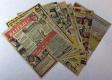 lot of 9 Thom McAn sports ads 1940s-50s~baseball+boxing~BOB FELLER,TOMMY HENRICH