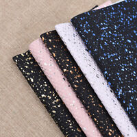 1Piece A4 Cube Glitter Synthetic PU Leather Fabric Artificial Leather DIY Craft