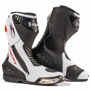 Richa Drift Waterpoof Boot Motorcycle Motorbike Sports Race Boots - Black White