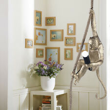 Modern Style Monkey Table Lamp Light Resin Hanging Rope Wall Lights Black Golden