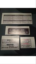 Yamaha Ysr Warning Decal Label(4 stickers)