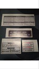 Yamaha Ysr Warning Decal Label(4 stickers)