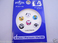 6pcs Snoopy Home Button Sticker for Apple iPhone Universal Studios Japan Limited