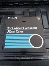 "NEW LOT OF 3 PHILIPS COOL WHITE FLUORESCENT 32 WATT 12"" CIRCLINE BULB FC12T9/CW"