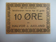More details for norway emergency ww2 currency (notgeld) - 10 ore, skien municipality unc