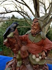 Cairn Tom Clark Foster & Black Crow Society Figure Pecan Resin Sculpture Rare ��