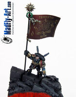 Space Marine Standard Bearer MASTERS6 painted MadFly-Art