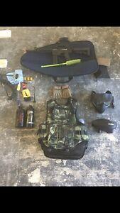 Full Set Of Paintball Equipment