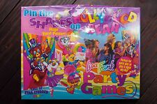"Lisa Frank ""Pin the Shades on the Hollywood Bear"" Party Game w/ Huge Poster RARE"