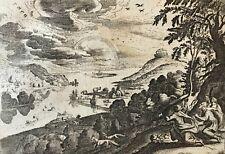 Noé sacrifice à Dieu Jacob Matham 1571-163 après Hendrick Goltzius 1606 - 1652