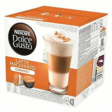 Dolce Gusto Latte Machiato caramelo café 6 Cajas, Total 96 cápsulas 48 porciones