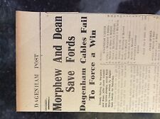 M3-9a ephemera 1941 dagenham ww2 cricket report dagenham cables ford sports
