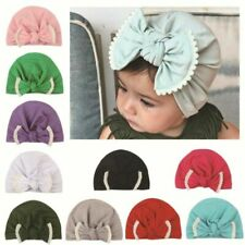 Ctue Newborn Kids Baby Boy Girl Infants Soft Bowknot Hat Comfy Beanie Cap Turban
