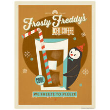 Frosty Freddys Iced Coffee Decal 26 x 34 Peel and Stick Kitchen Decor