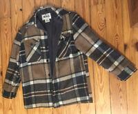 VTG Woolrich Men's WPL 6635 Brown Plaid Men's Sz M Jacket Wool USA