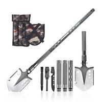 5 IN 1 Multifunktional Camping Schaufel Klappspaten Messer Survival Spaten 93CM