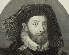 John de Línea comte Arenberg grabado c1860 para el cardenal Granvelle Demannez