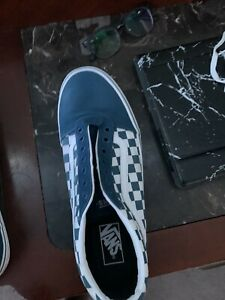 Navy Blue Checker Vans