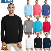 Gildan Plain Mens Hammer Adult Long-Sleeve Tshirt H400 S-XL 100% Cotton T Shirt