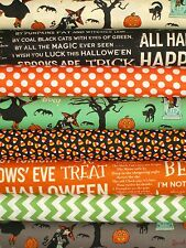 Retro Halloween Witches Brew Haunted House Riley Blake Trick or Treat Vintage