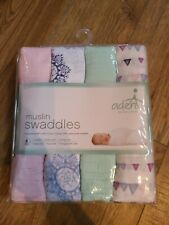 Aden by aden + anais 4 Pack  cotton Muslin Swaddle Baby NEW