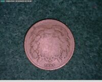 1865 2c Two Cent  Civil War Coin ( 35-166 M3 )