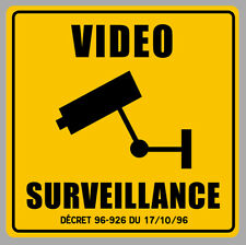 VIDEO SURVEILLANCE PROPRIETE ALARME CAMERA SECURITE 9cm STICKER VA093