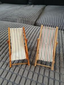 Dolls House Minature Deck Chairs